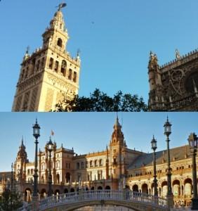 Cattedrale e piazza Spagna a Siviglia